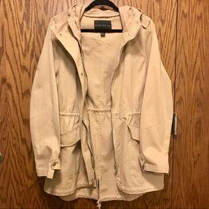Tan Spring Utility Jacket Size: 0X